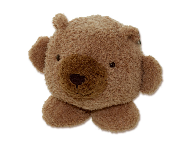 "6"" round plush teddy bear"
