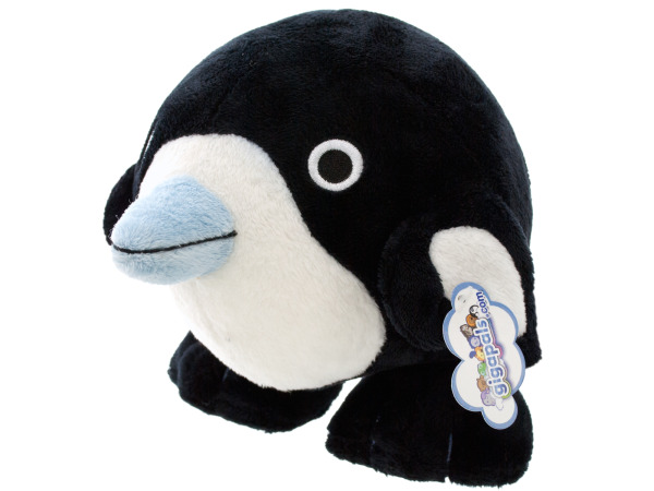 "6"" round plush penguin"