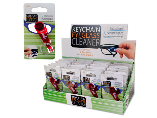 Keychain Eyeglass Cleaner Countertop Display