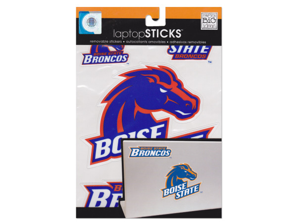 boise state broncos removable laptop stickers