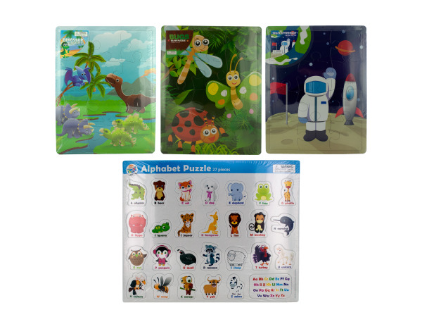 12 piece 11 x 14 glow puzzle assorted designs