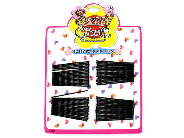 Black bobby pin set