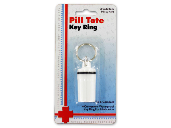 Pill tote key ring