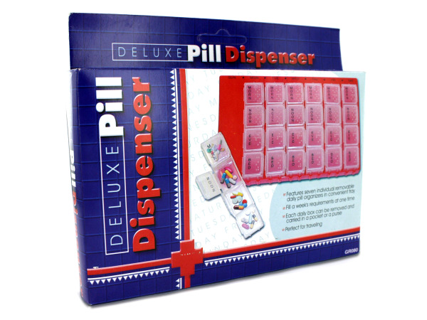Deluxe pill dispenser
