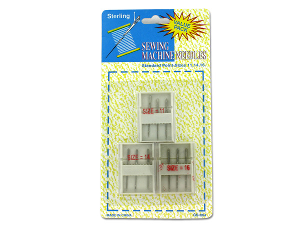 Sewing machine needles with cases