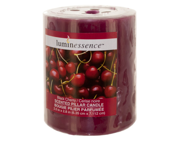 Black Cherry Scented Pillar Candle