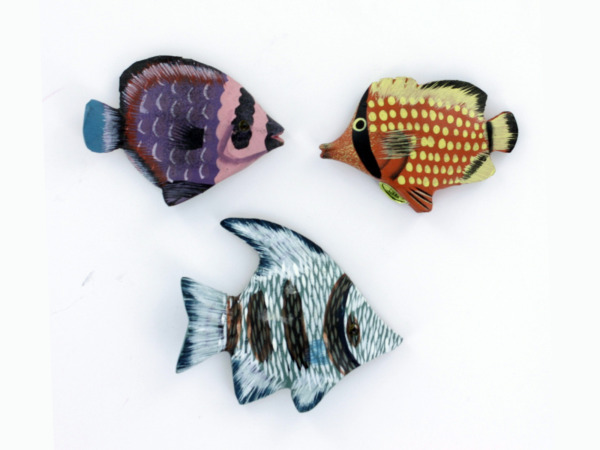 Assorted wood fish