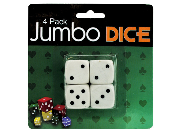 Jumbo dice, pack of 4