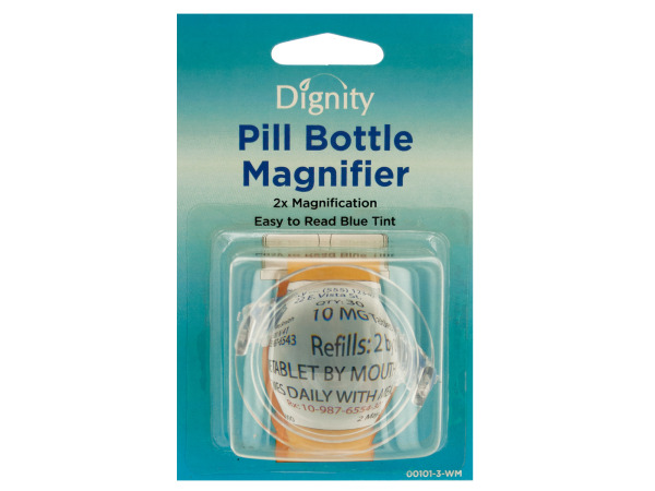 Pill Bottle Magnifier