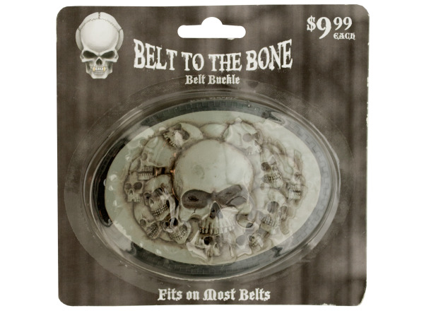 Belt to the Bone Skulls Belt Buckle