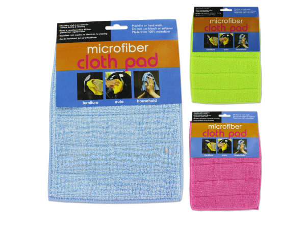Microfiber cloth pad