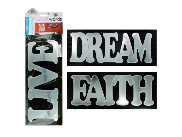 Self-adhesive inspirational words wall decor