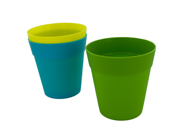 "5"" Colorful Plastic Flower Pot"