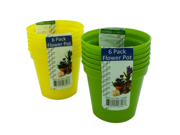 "3"" Plastic Flower Pots Set"