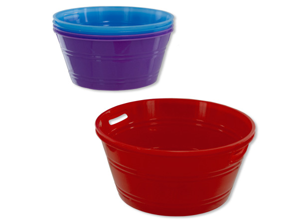 2 pack small tubs (assorted colors)