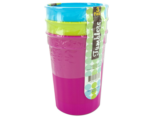 Bright tumblers, pack of 3