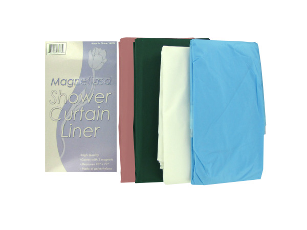 Magnetized Shower Curtain Liner