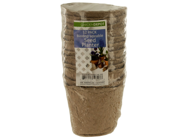 Biodegradable Round Seed Planters Set