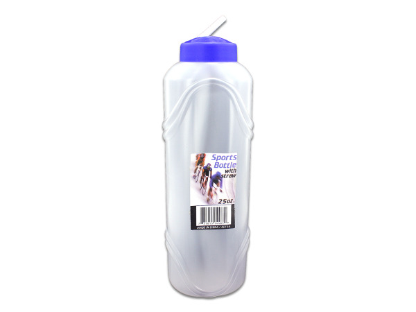 25 oz. water bottle with straw
