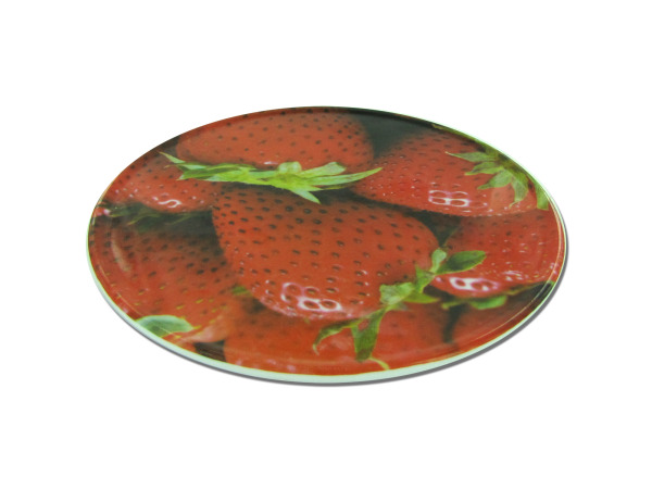 Round Trivet with Strawberry Design