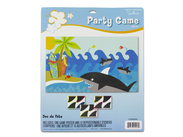 luau stick the fin on the shark game
