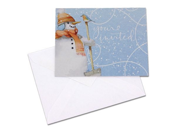 Snowman invitations, pack of 10