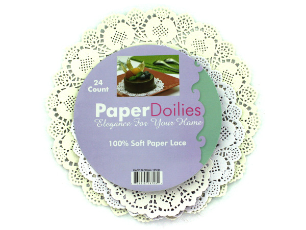 Round paper doilies