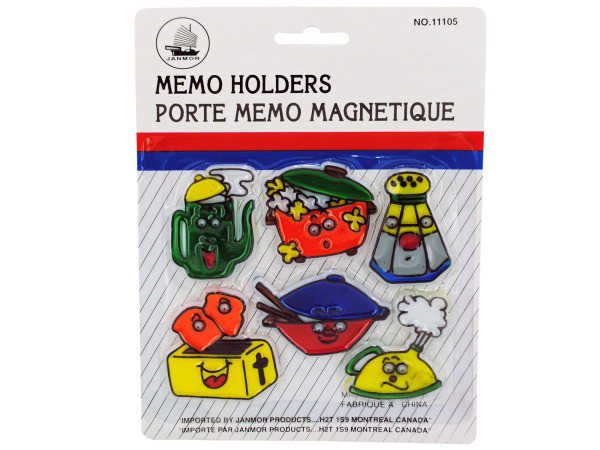 Kitchen theme magnetic memo holders
