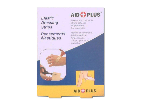 Elastic dressing strips for first aid, pack of 10