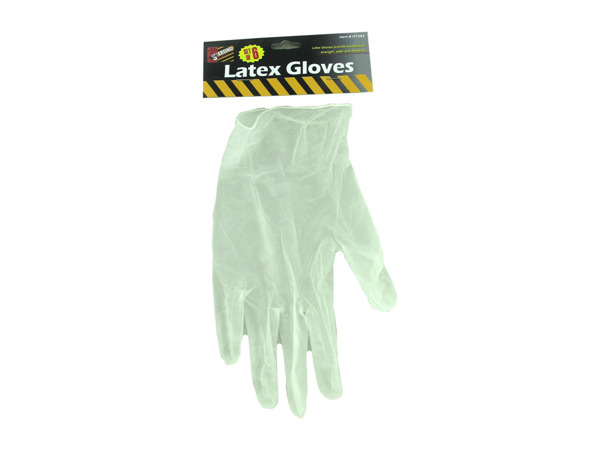 6 Piece latex gloves