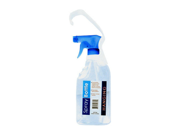 Hanging spray bottle