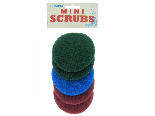 Mini round scrubbers, pack of 5