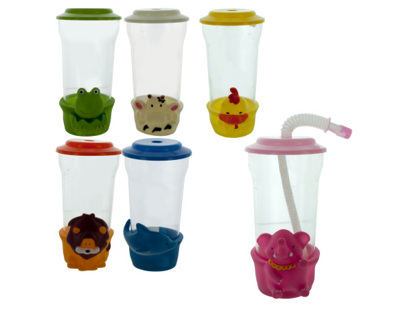 plastic cup with decoration