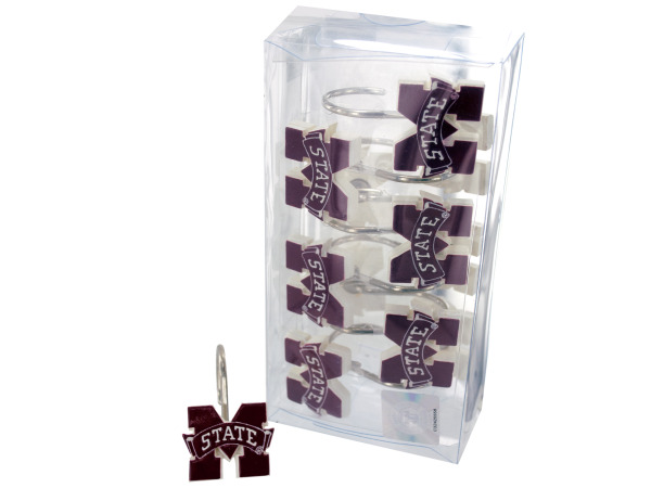 mississippi state shower curtain hooks