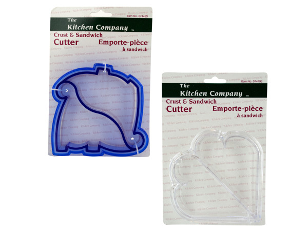 crust/sandwich cutter assorted colors