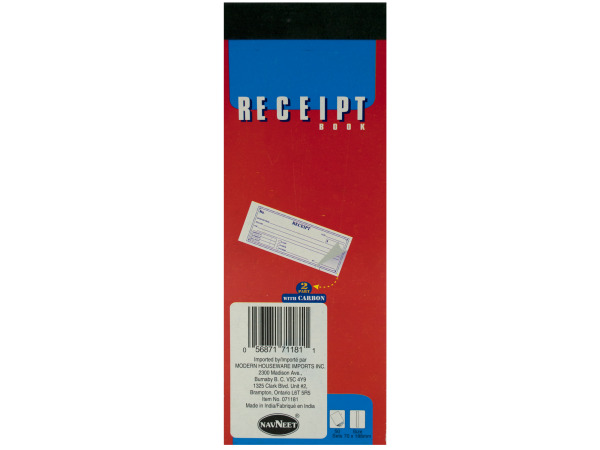 50 sets receipt book (2 part with carbon)