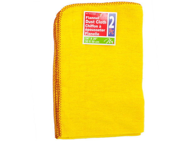 2 pack flannel dust cloth 14 x 20 inch