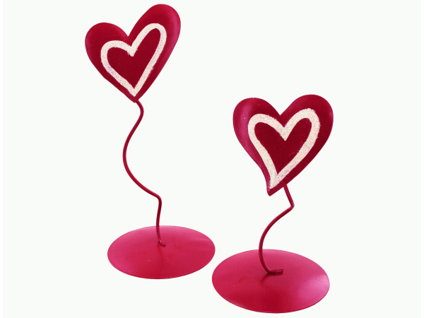 Sweetheart tea light candle stand set