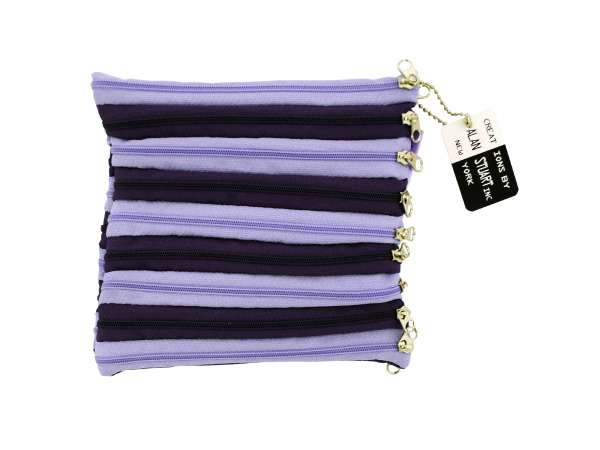 purple zipper bag 13711