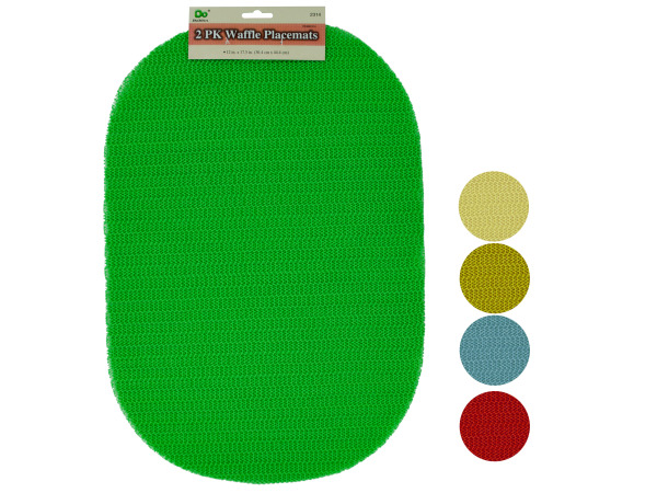 2 pack 17.5 x 12 waffle placemats
