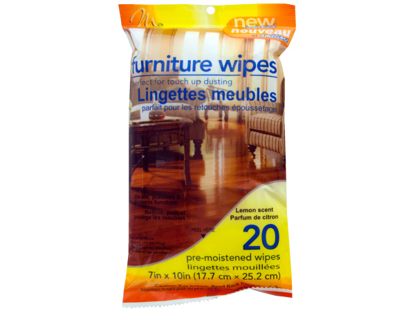 20 pack kitchen/bath wipes orange scented