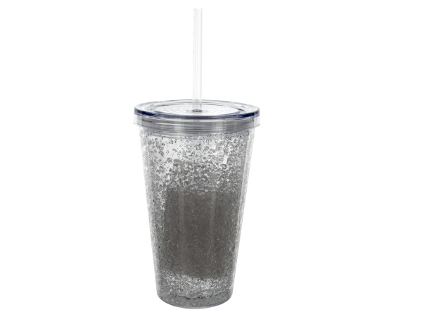 16 oz. Clear Cup with Straw