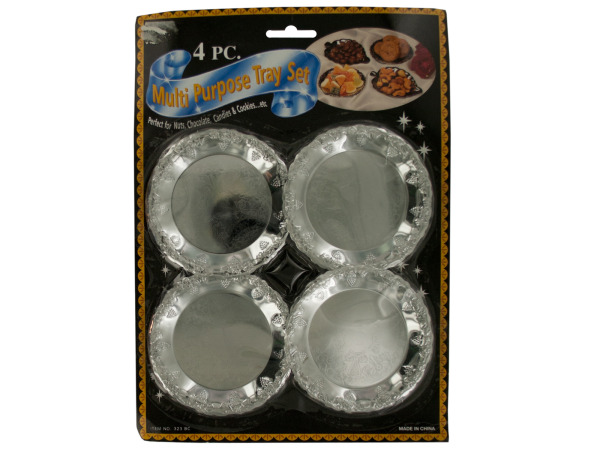 Decorative Mini Metal Tray Set