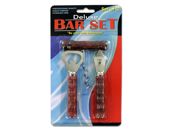 Bottle and can opener bar set