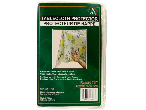 70 inch round tablecloth protector
