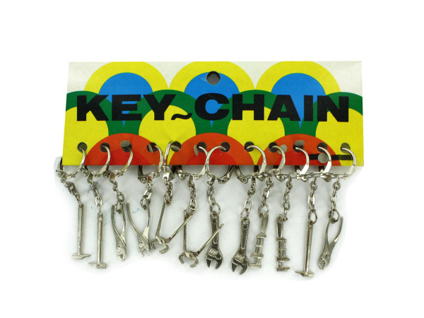 Tools keychains, 12 per card