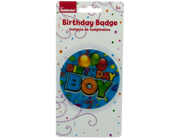 Holographic Birthday Boy Badge