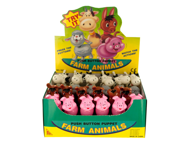 push button farm animal
