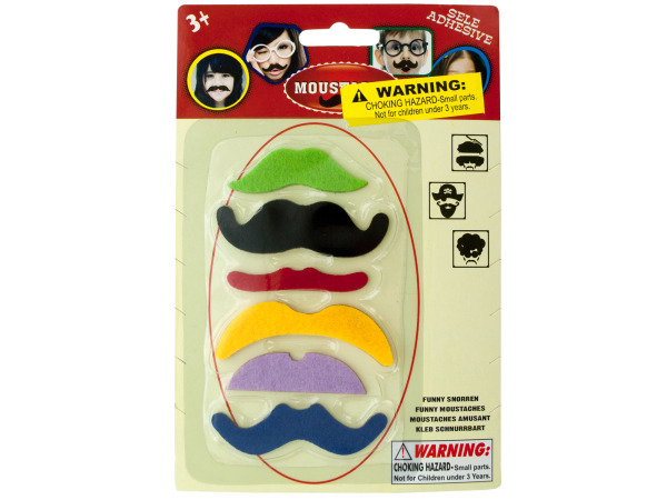 Self-Adhesive Mustache Play Set