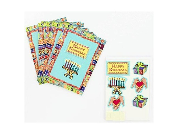 Kwanzaa note cards with envelopes, pack of 8